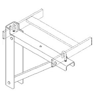 "Chatsworth 11746-712 Triangular Support Bracket, For 6"" & 12"" Widths, Black, Limited Quantities Available"
