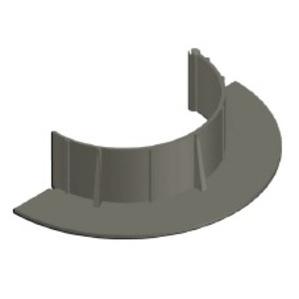 "Chemlink F1360GR E-Curb Round, 4"", Steep Slope"
