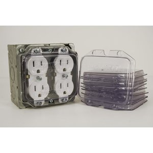 Clear Industries DCP-2 CLER DCP-2 2 GANG DUPLEX COVER