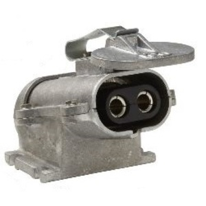 Clements National CBCR-2S Battery Jumper Receptacle, 150A, 2/0 AWG, Solder