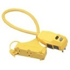 Coleman Cable 14880023-6 GFCI Tri Tap Outlet Cord