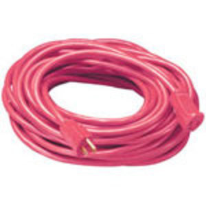 Coleman Cable 2407SW8804 Extension Cord, Outdoor, 14/3, 25', Red