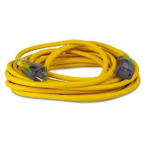 Coleman Cable 2587SW8802 All Weather Extension Cord, 12/3, 25' Length, Xtra Flex