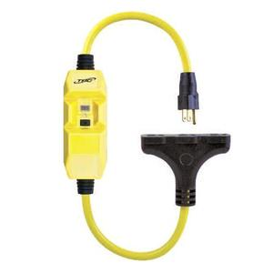 Coleman Cable 26020008-6 15 Amp, 120V AC, Molded Plug & 3-Tap Connector, 12/3 SEOW Cord