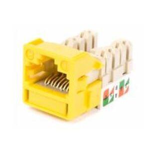 Commscope CC0020537/1 Snap-In Jack, UNJ500, CAT5e, U/UTP, Yellow