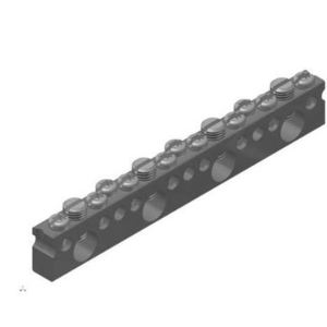 Connector Manufacturing Company LCB-1/0-19 Neutral Bar, 19 Space, Copper, Only, #14AWG - #1/0AWG Range