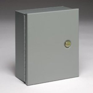 "Cooper B-Line 12126-1 Enclosure, NEMA 1, Hinged Cover, 12"" x 12"" x 6"", Steel"