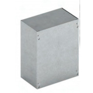 "Cooper B-Line 18184-SCGV-NK Enclosure, NEMA 1, Screw Cover, 18"" x 18"" x 4"", No KO, Steel"