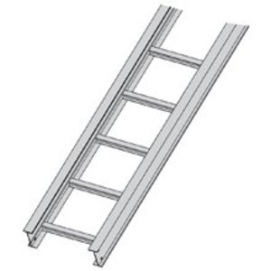 "Cooper B-Line 34A09-12-144 Cable Tray, Ladder Type, Aluminum, 9"" Rung Spacing, 12"" Wide, 12' Long"