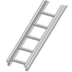 "Cooper B-Line 46A09-12-240 Cable Tray, Ladder Type, Aluminum, 9"" Rung Spacing, 12"" Wide, 20' Long"