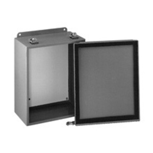 "Cooper B-Line 664-12LC JIC Enclosure, NEMA 12, Lift-Off Cover, 6"" x 6"" x 4"", Steel/Gray"