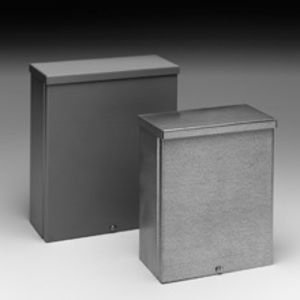 "Cooper B-Line 664-RTSC-NK Enclosure, NEMA 3R, Screw Cover, 6"" x 6"" x 4"", Painted, No KOs"
