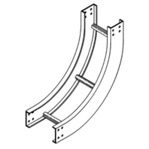 "Cooper B-Line 6A-12-90VI24 Cable Tray 90° Vertical Inside Bend, 24"" Radius, 12"" W, 6"" D, Aluminum"