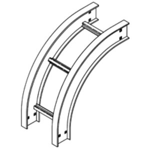 "Cooper B-Line 6A-12-90VO24 Vertical Outside 90° Bend, 24"" Radius, 6"" Deep, 12"" Wide, Aluminum"