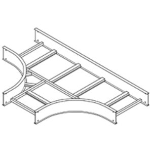 "Cooper B-Line 6A-24-HT24 Cable Tray Horizontal Tee, 24"" Width, 24"" Radius, 6"" Deep, Aluminum"