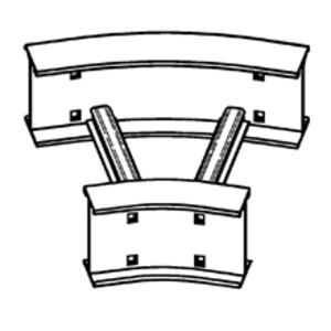 "Cooper B-Line 6A-36-30HB24 Horizontal Bend, 30°, 36"" Radius, 24"" Width, Aluminum"