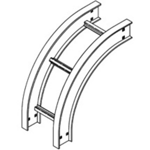 "Cooper B-Line 6A-36-90VO24 Vertical Outside 90° Bend, 24"" Radius, 6"" Deep, 36"" Wide, Aluminum"
