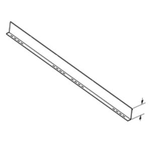 """Cooper B-Line 74A-144 Barrier, Straight, 4"""" High, 4"""" Deep, 12' Long, Aluminum"""