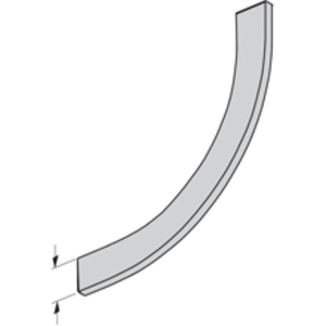 """Cooper B-Line 74A-90VI12 Cable Tray Barrier, Vertical Inside Bend, 12"""" Radius, Aluminum"""