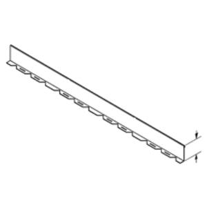 "Cooper B-Line 75A-90HBFL Barrier, Horizontal Bend, Aluminum, 6"" Side Rail Height"
