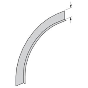"Cooper B-Line 75A-90VO24 Barrier Vertical Outside 90° Bend, 24"" Radius, 4"" Deep, Aluminum"