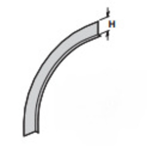 Cooper B-Line 75A144 Cable Tray Divider Strip, Straight