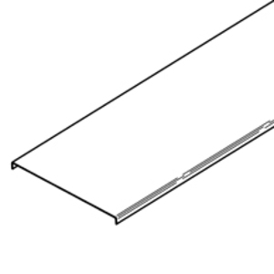 "Cooper B-Line 807A40-12-120 Cable Tray Cover, Series 2, 3 & 4, 12"" Wide, 10' Long, Aluminum"