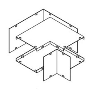"""Cooper B-Line 88-L-COMBO Wireway 90° Elbow, Type 1, Lay-In, Combo Opening, 8"""" x 8"""", Steel, Gray"""