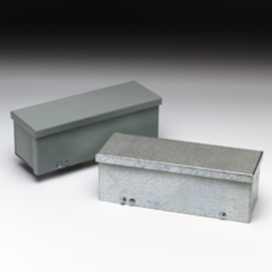 "Cooper B-Line 8860-GRTGV-NK Wiring Trough, Type 3R, Screw Cover, 8"" x 8"" x 60"", Galvanized, No KOs"