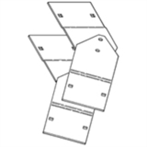 "Cooper B-Line 9A-1024 Vertical Adjustable Splice Plates, For 3"" NEMA, 4"" High, Aluminum, Pair"