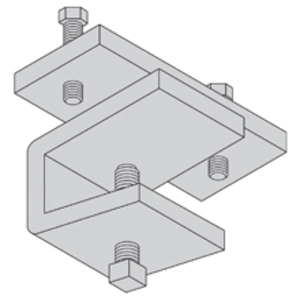 Cooper B-Line 9G-1249HD Cable Tray Hold-Down Clamp, Zinc Plated