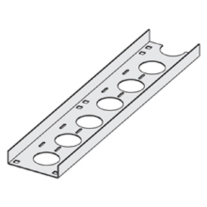 "Cooper B-Line ACC-04-144 Channel Cable Tray, Straight Section, 4"" Wide, Ventilated, 12' Long, Aluminum"