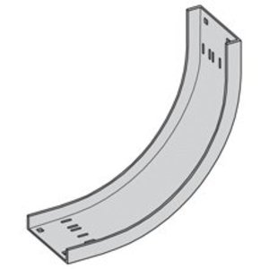 "Cooper B-Line ACC-04-90VI24 Cable Tray 90° Vertical Inside Bend, 24"" Radius, 4"" Wide,  Aluminum"