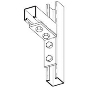 Cooper B-Line B115ZN Four Hole Corner Angle, Zinc Plated