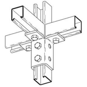 Cooper B-Line B124ZN Nine Hole Triple Wing Connector, Steel/Zinc Plated