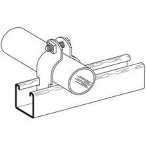 "Cooper B-Line B2023HDG O.D. Tubing Clamp, 1/4"", Steel"