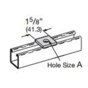 """Cooper B-Line B202HDG Square Washer, 1/2"""" Bolt Hole, Steel/Hot Dipped Galvanized"""