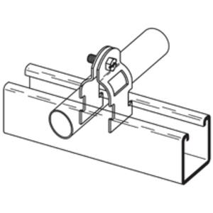 "Cooper B-Line B2209PAZN Strut Conduit Clamp, Universal, 3/4"", Zinc"