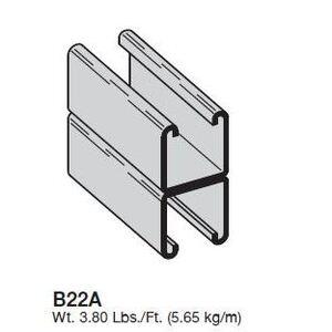 Cooper B-Line B22A-120SS4 B-LINE B22A-120SS4 CHANNEL, 1 5/8-I