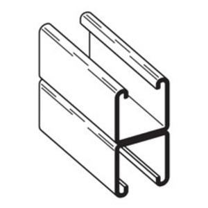 "Cooper B-Line B22A-240GLV Channel - Back To Back, Steel, Pre-Galvanized, 1-5/8"" x 3-1/4"" x 20'"
