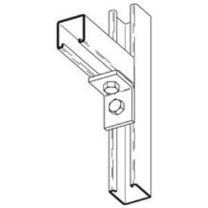 Cooper B-Line B230ZN Corner Angle Fitting, 90°, 2-Hole, Steel