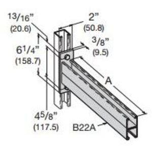 Cooper B-Line B297-24ZN Double Channel Bracket