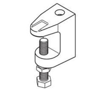 "Cooper B-Line B3033-3/8HDG C-Clamp, Type: Reversible, Rod Size: 3/8""-16, Material: Steel"