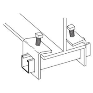 """Cooper B-Line B314ZN Beam Clamp, For Use With 1-5/8"""" Strut, Steel/Zinc Plated"""