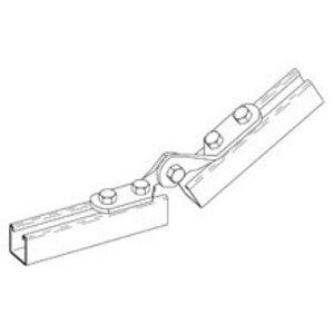 """Cooper B-Line B335ZN Four Hole Adjustable Hinge, 4-11/16"""" Hinge, Steel/Zinc Plated"""