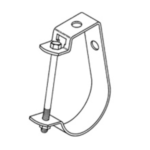 "Cooper B-Line B3690-1/2-ZN Adjustable J Hanger, 1/2"", Steel"