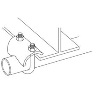 """Cooper B-Line B422-2ZN Conduit Clamp, 2"""", Right Angle, Steel, Zinc Plated"""