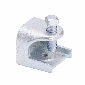 "Cooper B-Line B444-3/8ZN Beam Clamp, Rod Support, Thread: 3/8-16, Size 2"", Steel"
