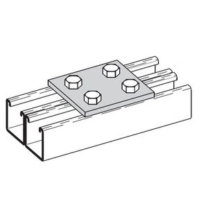 Cooper B-Line B504ZN FOUR HOLE SPLICE PLATE,