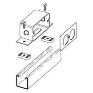 Cooper B-Line B516SGALV Outlet Box, Type: Duplex, Strut Mount, Hardware Included, Steel/Zinc
